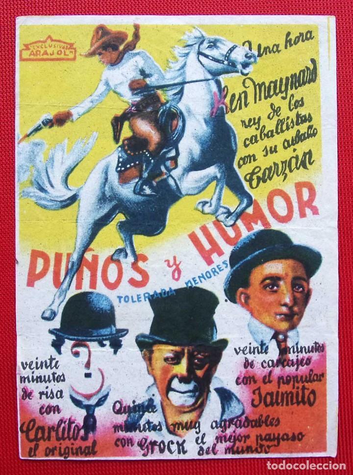 PROGRAMA SENCILLO. PUÑOS Y HONOR. EXCLUSIVAS ARAJOL. (Cine - Folletos de Mano - Westerns)