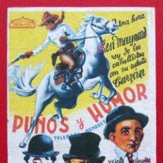 Cine: PROGRAMA SENCILLO. PUÑOS Y HONOR. EXCLUSIVAS ARAJOL. . Lote 199657855