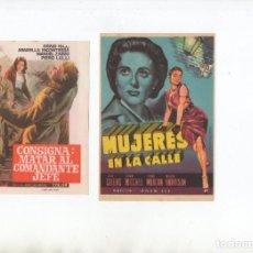 Cine: DOS PROGRAMAS DE MANO ORIGINALES DEL CINE EUROPEO. Lote 199693341