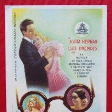 Cine: PROGRAMA SENCILLO. UNA CHICA DE OPERETA. CIFESA. JOSITA HERNAN. LUIS PRENDES.. Lote 199741466