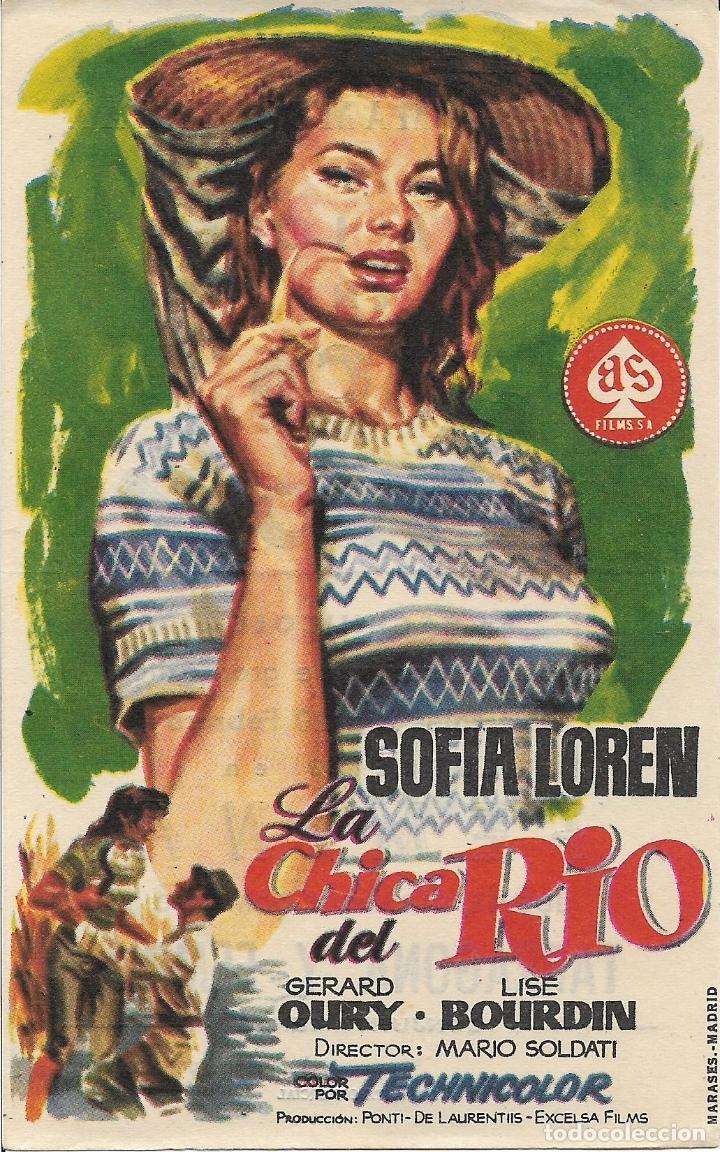 PROGRAMA DE CINE – LA CHICA DEL RIO – SOFIA LOREN – FEMINA – TARRAGONA (Cine - Folletos de Mano - Musicales)