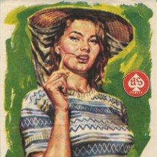Foglietti di film di film antichi di cinema: PROGRAMA DE CINE – LA CHICA DEL RIO – SOFIA LOREN – FEMINA – TARRAGONA. Lote 199755877