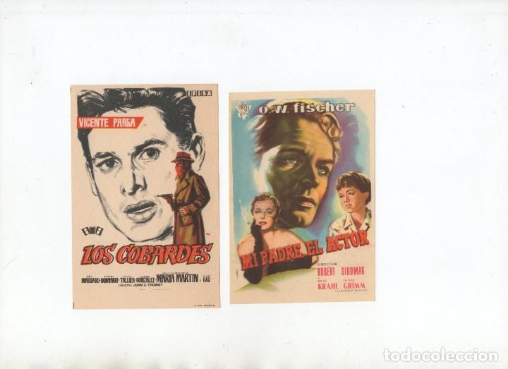 LOS COBARDES-VICENTE PARRA, MI PADRE, EL ACTOR-O.W. FISCHER (Cine - Folletos de Mano - Drama)