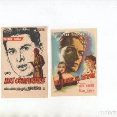 Cine: DOS PROGRAMAS DE MANO ORIGINALES DEL CINE EUROPEO. Lote 199793295