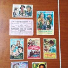 Cine: LOTE PROGRAMAS CINE TEATRO IDEAL CINEMA CALAHORRA MILAGRO AÑOS 40. Lote 199802312