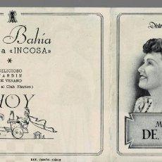 Cine: MUCHACHOS DE SIRACUSA - PROGRAMA DOBLE DE BALLESTEROS CON PUBLICIDAD AL DORSO ,RF-82 BUEN ESTADO. Lote 199823962