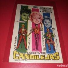 Cine: LUCES DE CANDILEJAS CON MARILYN MONROE. PUBLICIDAD AL DORSO. AÑO 1954.. Lote 199852842