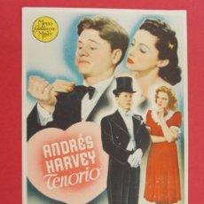 Cine: ANDRÉS HARVEY TENORIO - AÑO 1945 - FOLLETO - PROGRAMA CINE ... L661. Lote 199960393