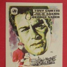 Cine: ATRACO SIN HUELLAS - AÑO 1961 - FOLLETO - PROGRAMA CINE - TONY CURTIS ... L663. Lote 199962202