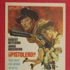 Cine: PISTOLERO - AÑO 1970 - FOLLETO - PROGRAMA CINE - ROBERT MITCHUM ..L690. Lote 200036230