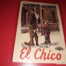 Cine: EL CHICO CON CHARLES CHAPLIN. PUBLICIDAD AL DORSO. AÑO 1921.. Lote 200045107