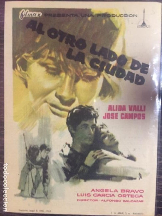 AL OTRO LADO DE LA CIUDAD - SENCILLO (Cine - Folletos de Mano - Drama)