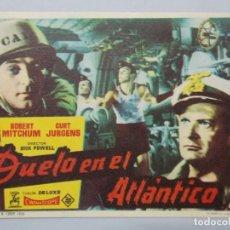 Cine: DUELO EN EL ATLANTICO - AÑO 1959 - FOLLETO - PROGRAMA CINE - ROBERT MITCHUM ..L697. Lote 200138397