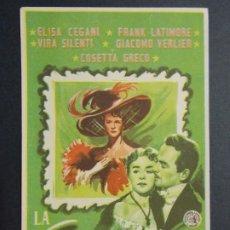 Cine: LA ENEMIGA - AÑO 1955 - FOLLETO - PROGRAMA CINE - ELISA CEGANI ..L702. Lote 200140627