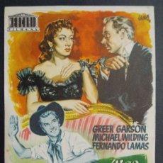 Cine: LA ENIGMATICA SEÑORA LOVERLY - AÑO 1954 - FOLLETO - PROGRAMA CINE - FERNANDO LAMAS ..L708. Lote 200143172