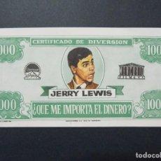 Cine: ¿QUE ME IMPORTA EL DINERO? - AÑO 1964 - FOLLETO - PROGRAMA CINE - JERRY LEWIS ..L709. Lote 200143626