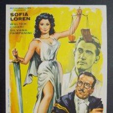 Cine: JUZGADO A LA ITALIANA - AÑO 1954 - FOLLETO - PROGRAMA CINE - SOFIA LOREN ..L712. Lote 200147326