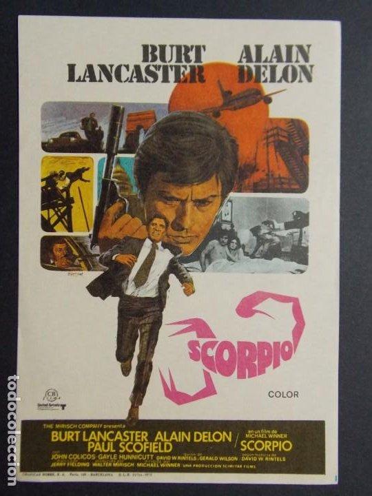 SCORPIO - AÑO 1973 - FOLLETO - PROGRAMA CINE - BURT LANCASTER (PEDIDO MINIMO 3,00 EUR) ..L716 (Cine - Folletos de Mano - Acción)