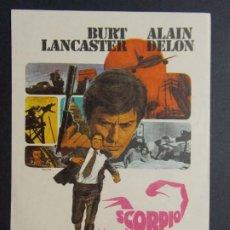 Cine: SCORPIO - AÑO 1973 - FOLLETO - PROGRAMA CINE - BURT LANCASTER (PEDIDO MINIMO 3,00 EUR) ..L716. Lote 200151872