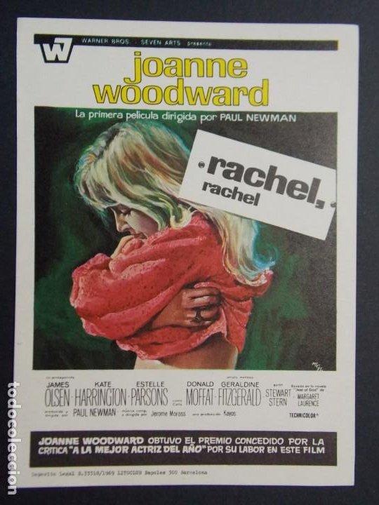 RACHEL , RACHEL - AÑO 1969 - FOLLETO - PROGRAMA CINE - JAMES OLSEN ..L717 (Cine - Folletos de Mano - Acción)