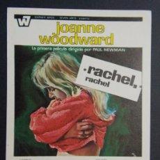 Cine: RACHEL , RACHEL - AÑO 1969 - FOLLETO - PROGRAMA CINE - JAMES OLSEN ..L717. Lote 200152306