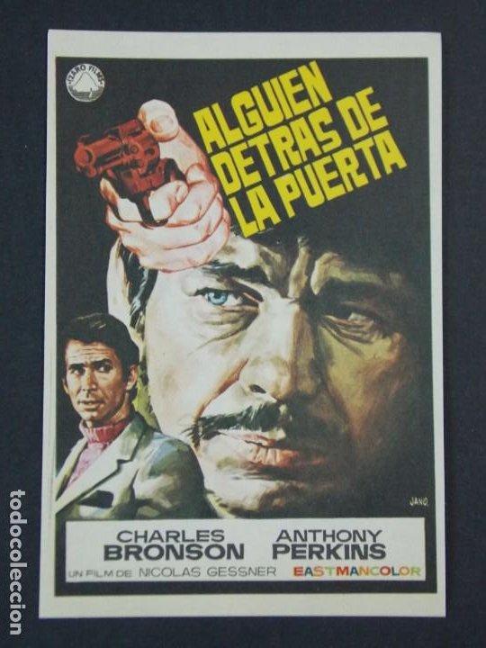 ALGUIEN DETRAS DE LA PUERTA - AÑO 1970 - FOLLETO - PROGRAMA CINE - DIBUJANTE JANO .. L724 (Cine - Folletos de Mano - Acción)