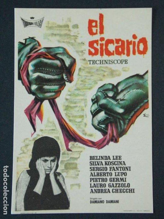 EL SICARIO - AÑO 1963 - FOLLETO - PROGRAMA CINE - BELINDA LEE .. L726 (Cine - Folletos de Mano - Acción)