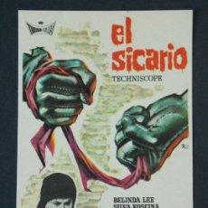 Cine: EL SICARIO - AÑO 1963 - FOLLETO - PROGRAMA CINE - BELINDA LEE .. L726. Lote 200155503