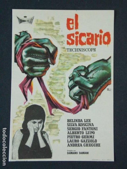 EL SICARIO - AÑO 1963 - FOLLETO - PROGRAMA CINE - BELINDA LEE .. L727 (Cine - Folletos de Mano - Acción)