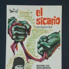 Cine: EL SICARIO - AÑO 1963 - FOLLETO - PROGRAMA CINE - BELINDA LEE .. L727. Lote 200155697