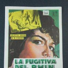 Cine: LA FUGITIVA DEL RHIN - AÑO 1964 - FOLLETO - PROGRAMA CINE - MURIEL PAVLOW .. L732. Lote 200159142