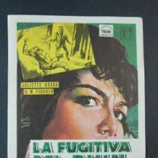 Cine: LA FUGITIVA DEL RHIN - AÑO 1964 - FOLLETO - PROGRAMA CINE - MURIEL PAVLOW .. L733. Lote 200159325