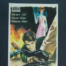 Cine: 3 NOCHES VIOLENTAS - AÑO 1966 - FOLLETO - PROGRAMA CINE - HALSEY LEE .. L740. Lote 200160880