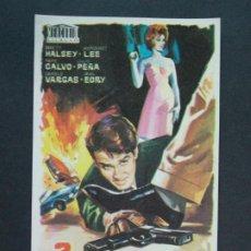 Cine: 3 NOCHES VIOLENTAS - AÑO 1966 - FOLLETO - PROGRAMA CINE - HALSEY LEE .. L741. Lote 200160977