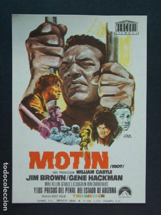 MOTIN - AÑO 1969 - FOLLETO - PROGRAMA CINE - JIM BROWN - DIBUJANTE JANO .. L742 (Cine - Folletos de Mano - Acción)