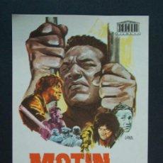 Cine: MOTIN - AÑO 1969 - FOLLETO - PROGRAMA CINE - JIM BROWN - DIBUJANTE JANO .. L742. Lote 200161203