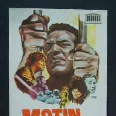 Cine: MOTIN - AÑO 1969 - FOLLETO - PROGRAMA CINE - JIM BROWN - DIBUJANTE JANO .. L743. Lote 200161310