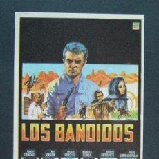 Cine: LOS BANDIDOS - AÑO 1968 - FOLLETO - PROGRAMA CINE - ROBERT CONRAD .. L752. Lote 200163796