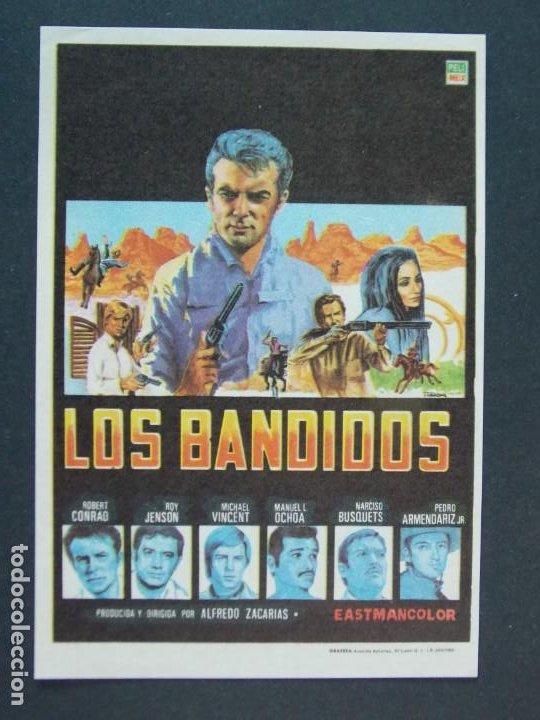 LOS BANDIDOS - AÑO 1968 - FOLLETO - PROGRAMA CINE - ROBERT CONRAD .. L753 (Cine - Folletos de Mano - Acción)