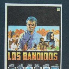 Cine: LOS BANDIDOS - AÑO 1968 - FOLLETO - PROGRAMA CINE - ROBERT CONRAD .. L753. Lote 200163907