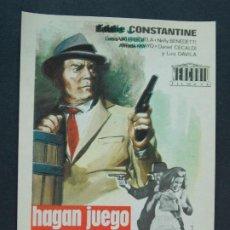 Cine: HAGAN JUEGO SEÑORAS - AÑO 1965 - FOLLETO - PROGRAMA CINE - EDDIE CONSTANTINE .. L754. Lote 200164491