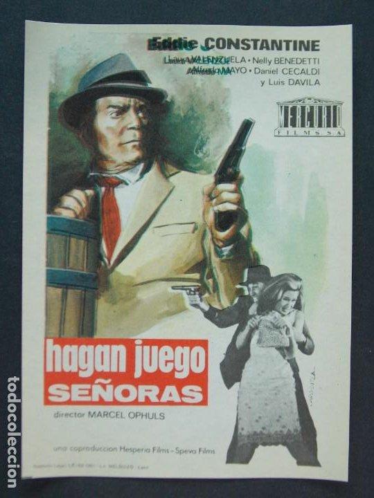 HAGAN JUEGO SEÑORAS - AÑO 1965 - FOLLETO - PROGRAMA CINE - EDDIE CONSTANTINE .. L755 (Cine - Folletos de Mano - Acción)
