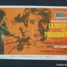 Cine: LA MUERTE DE UN PRESIDENTE - AÑO 1970 - FOLLETO - PROGRAMA CINE - VAN JOHNSON - DIBUJANTE JANO .L757. Lote 200165130
