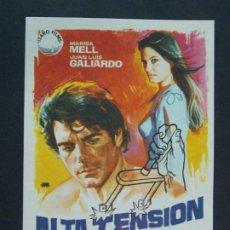 Cine: ALTA TENSION - AÑO 1972 - FOLLETO - PROGRAMA CINE - MARISA MELL - DIBUJANTE JANO ..L760. Lote 200166413