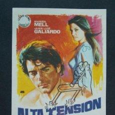 Cine: ALTA TENSION - AÑO 1972 - FOLLETO - PROGRAMA CINE - MARISA MELL - DIBUJANTE JANO ..L761. Lote 200166442