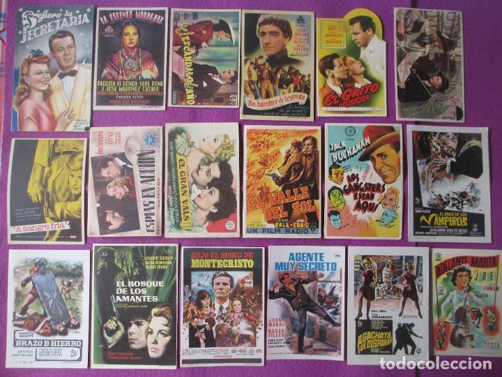 Cine: LOTE 188 PROGRAMAS DE CINE FOLLETO MANO VER FOTOS ADICIONALES - Foto 2 - 200238016