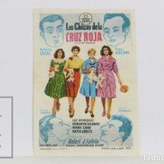 Flyers Publicitaires de films Anciens: PROGRAMA DE CINE SIMPLE - LAS CHICAS DE LA CRUZ ROJA - CONCHITA VELASCO - AÑO 1958. Lote 200242532