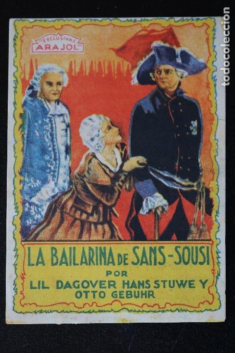 LA BAILARINA DE SANS SOUSI - ARAJOL - PROGRAMA DE MANO - DIFÍCIL (Cine - Folletos de Mano - Drama)
