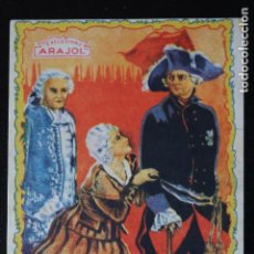 Cine: LA BAILARINA DE SANS SOUSI - ARAJOL - PROGRAMA DE MANO - DIFÍCIL. Lote 200352726