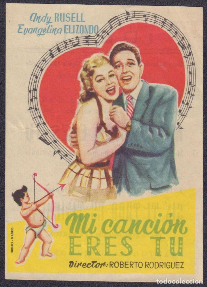 PROGRAMA SENCILLO DE MI CANCIÓN ERES TÚ (1956) - IDEAL CINEMA DE ELCHE (Cine - Folletos de Mano - Musicales)
